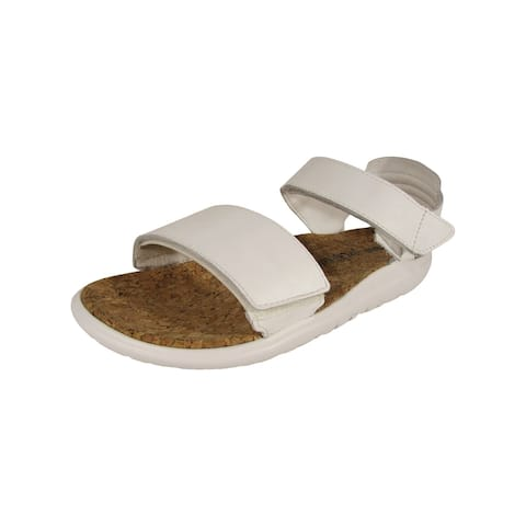 Teva Mens Han Kjobenhavn Float Leather Sandal Shoes, Optic White