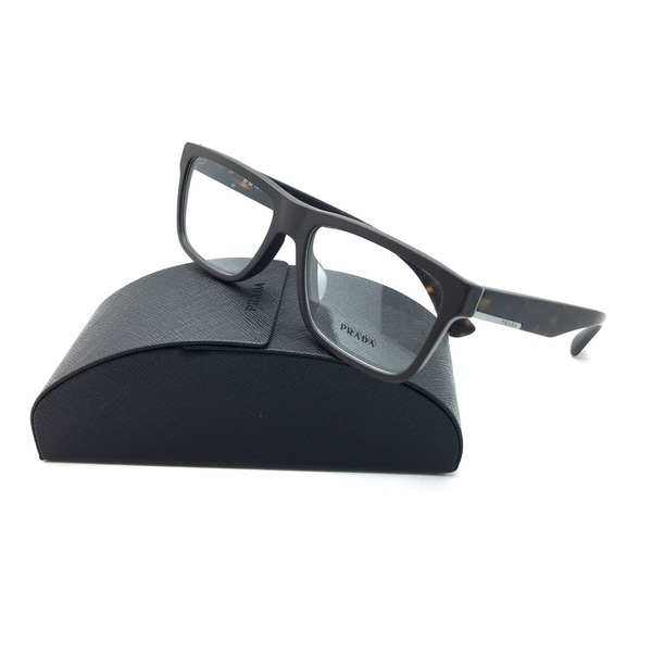 29b9ef890950 Shop Prada Matte Havana Eyeglasses 07S F TFD 1O1 56 mm Designer Demo Lenses  - Free Shipping Today - Overstock.com - 23008719