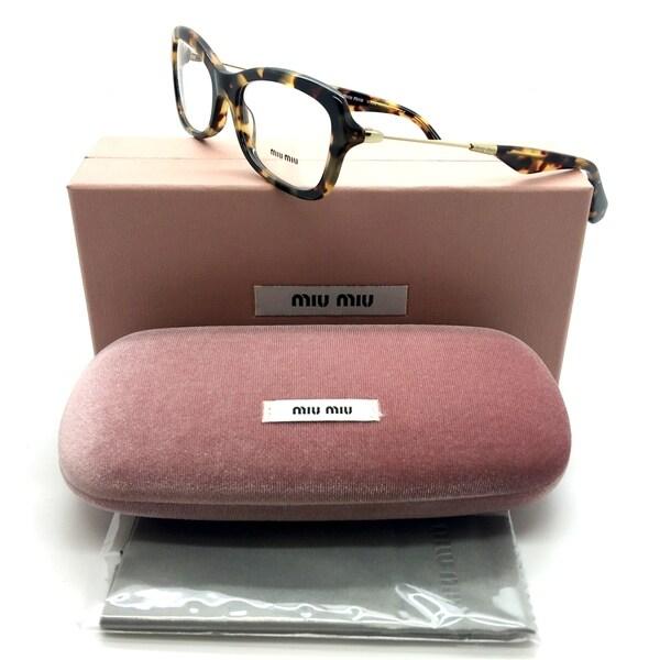 99e169933a29 Miu Miu VMU 06L 7S0-1O1 Tortoise Spotted on Gold Women Eyeglasses 52mm