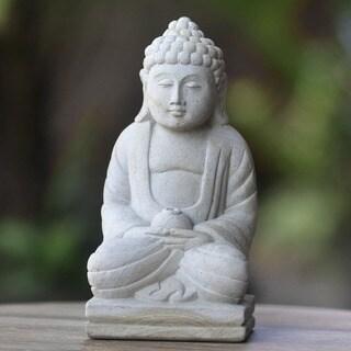 Inner Peace Buddha Statue, Handmade in, Handmade in Indonesia