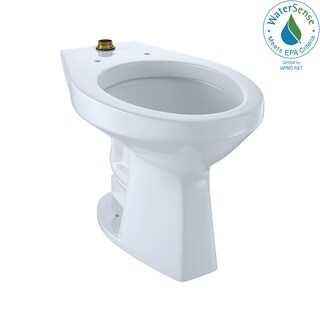 Toto Commercial Flushometer Ultra-High Efficiency Elongated Toilet CT705ULN#01 Cotton White - N/A