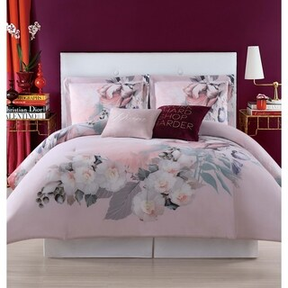 Christian Siriano Dreamy Floral Printed 3 Piece Duvet Cover Set
