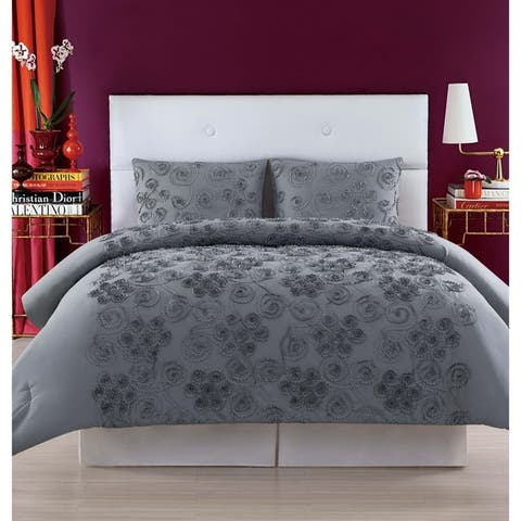 Christian Siriano Pretty Petals 3 Piece Duvet Cover Set