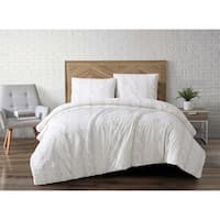 Brooklyn Loom Cable Knit Printed Velvet 3 Piece Comforter Set