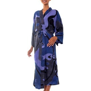 Handmade Through the Seas Women's Batik Robe (Indonesia)