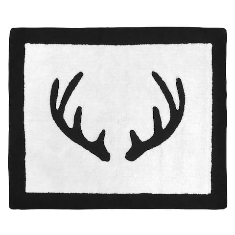 Sweet Jojo Designs Black and White Rustic Deer Woodland Camo Collection Accent Floor Rug (2.5' x 3') - 2' x 3'