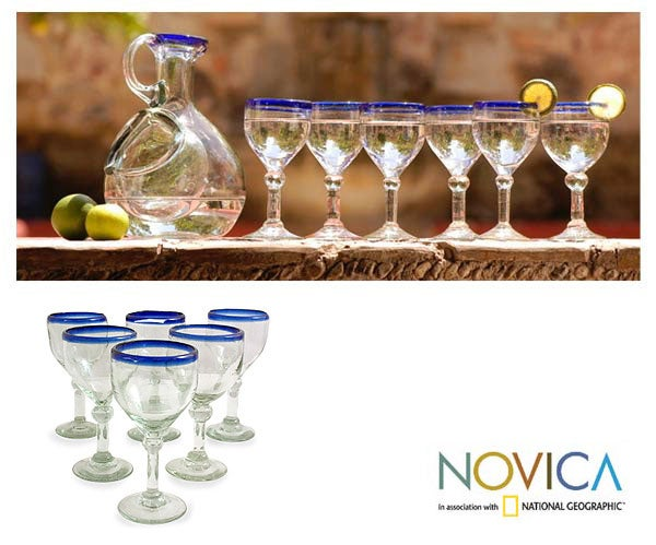 Acapulco 6-piece Wine Goblet Set (Mexico)