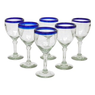 Handmade Acapulco 6-piece Wine Goblet Set (Mexico)