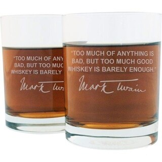 Whiskey Lovers Engraved Personalized Whiskey Glasses - M. Twain Whiskey