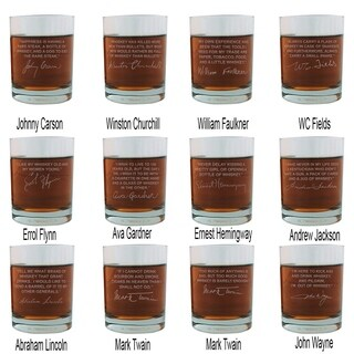 Whiskey Lovers Engraved Personalized Whiskey Glasses - Entire Set