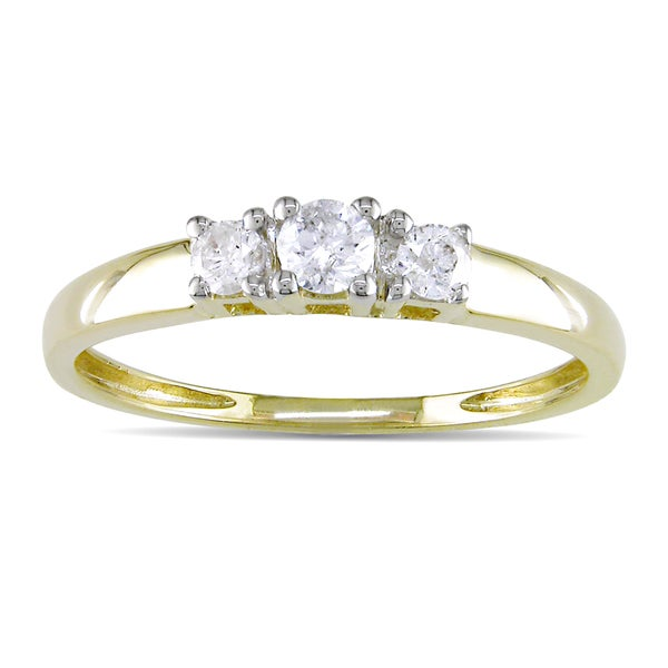 Miadora 14k Gold 1/4ct TDW Round Diamond Ring (J-K/ I2-I3)