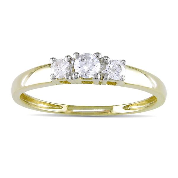 Miadora 14k Gold 1/4ct TDW Round Diamond Ring (J-K/ I2-I3)
