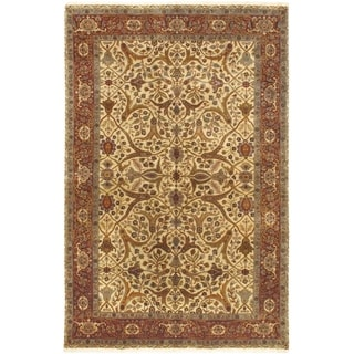 ECARPETGALLERY  Hand-knotted Mirzapur Cream Wool Rug - 5'8 x 8'9