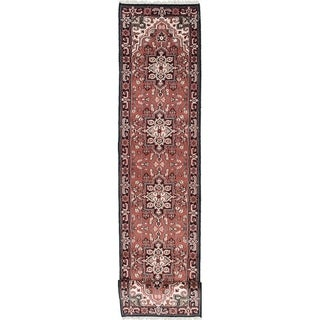 ECARPETGALLERY  Hand-knotted Royal Heriz Dark Red Wool Rug - 2'6 x 20'2