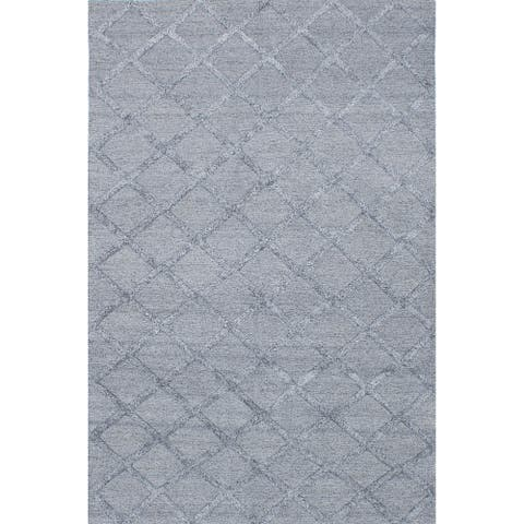 Flat-weave Cambridge Grey, Grey Silk, Wool Kilim