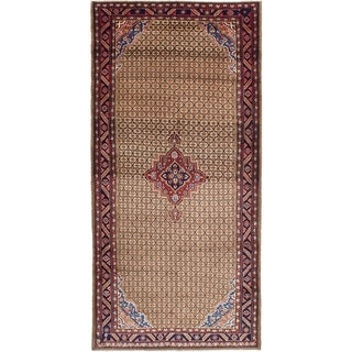 ECARPETGALLERY  Hand-knotted Koliai Brown Wool Rug - 5'0 x 10'6