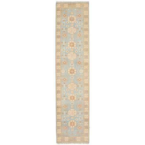 ECARPETGALLERY Hand-knotted Stonewash Ushak Wool Rug