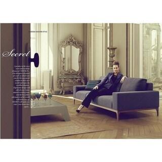 Secret Italian Design Mid Century Modern Premium Quality Dark Grey Loveseat