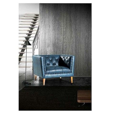 Mesopotamia Italian Design Mid Century Modern Premium Quality Blue ArmChair