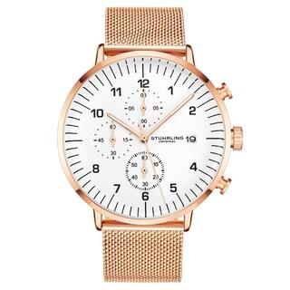 Stuhrling Original Men's Chronograph Mesh Bracelet Watch