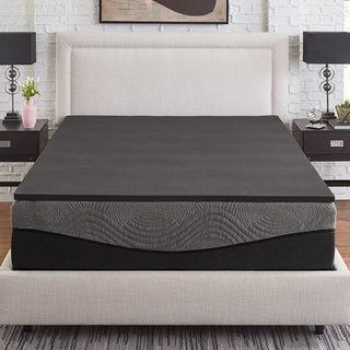 Slumber Solutions Active 1-inch Ebonite Memory Foam Topper