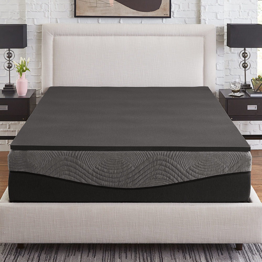 Shop Slumber Solutions Active 1 inch Charcoal Memory Foam Topper