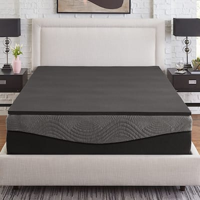 Slumber Solutions Active 1-inch Charcoal Memory Foam Topper
