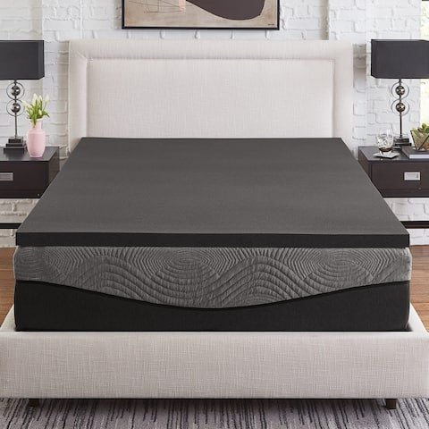 Slumber Solutions Active 2-inch Charcoal Memory Foam Topper