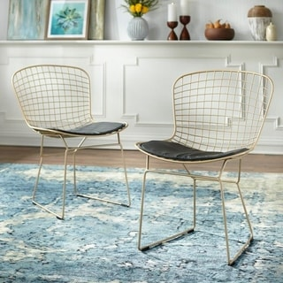 Link to Simple Living Newton Wire Chair (Set of 2) Similar Items in Dining Room & Bar Furniture