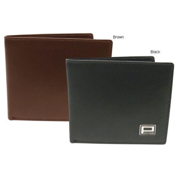 Pierre Cardin Men/'s Trifold Leather Wallet Black