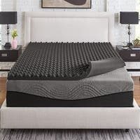 Slumber Solutions Active 3-inch Big Bump Charcoal Memory Foam Topper