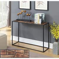 Convenience Concepts Geo Brown Metal Mid-century Modern Console Table