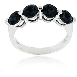 Glitzy Rocks Sterling Silver Sapphire Ring