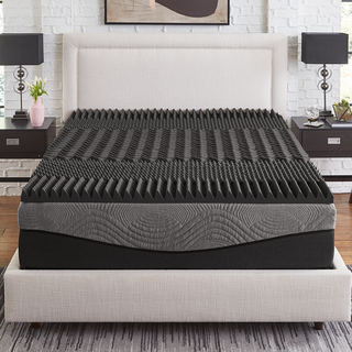 Link to Slumber Solutions Active 2.5-inch 5-Zone Charcoal Memory Foam Topper Similar Items in Mattress Pads & Toppers