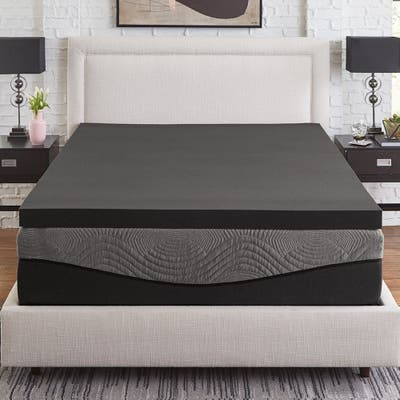 Slumber Solutions Active 3-inch Charcoal Memory Foam Topper