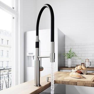 VIGO Norwood Stainless Steel Kitchen Faucet with Soap Dispenser