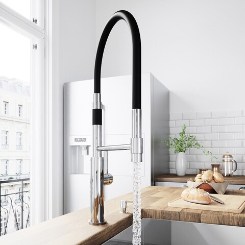 VIGO Norwood Magnetic Spray Kitchen Faucet With Soap Dispenser In Chrome