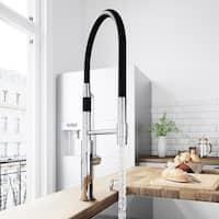 VIGO Norwood Chrome Magnetic Spray Kitchen Faucet with Soap Dispenser