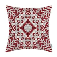 Throw Pillow Cover Case Burgundy Grey