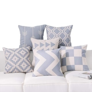 Grey Throw Pillow Covers for Couch