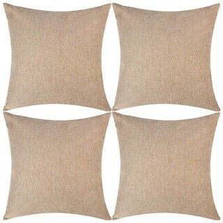Linen Throw Pillow Covers Brown