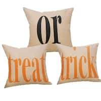 Halloween Treat or Trick Pillow Covers