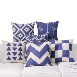 Navy Throw Pillow Covers for Couch
