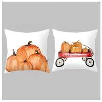 Fall Pumpkin Decorative Throw Pillow Covers