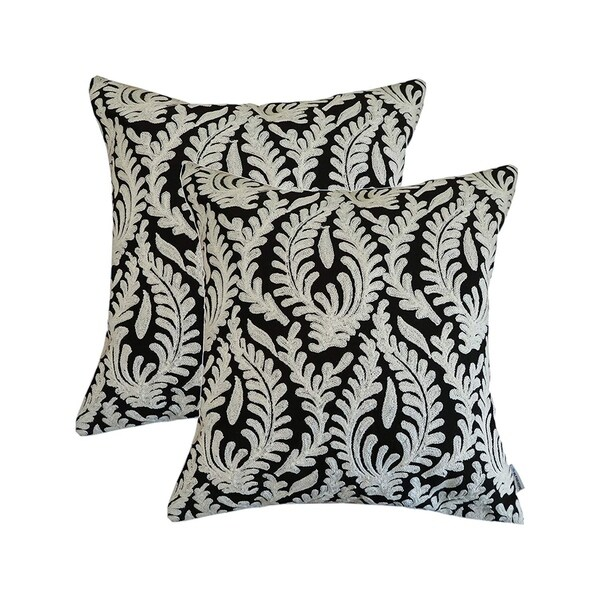 Shop Embroidered Throw Pillow Covers White Grass Free