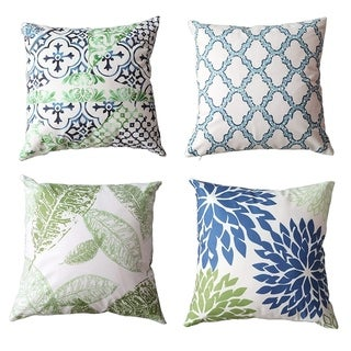 Cushion Covers - 4 Pack, 18 x 18 inch (Green)