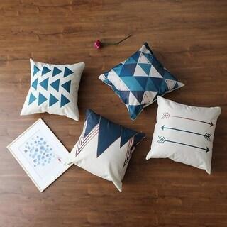 4 Cushion Covers - 18 x 18 inch (Geometric)