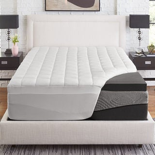 Link to Slumber solutions Active 3-inch Charcoal Memory Foam with 1.5-inch fiber cover Similar Items in Mattress Pads & Toppers