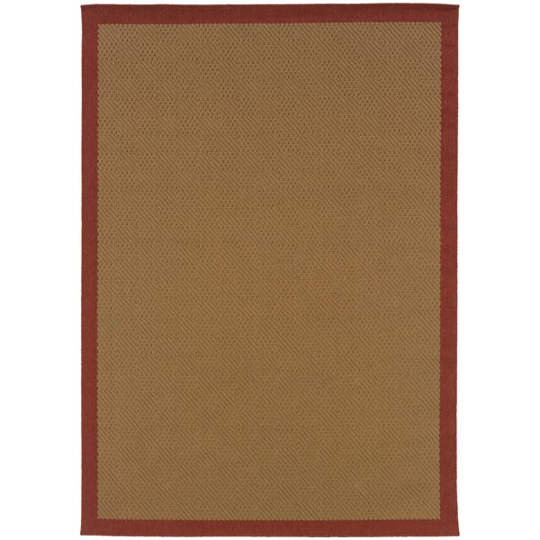 """Rectangle Rug/ Lanai 2 Ft. 3 In. X 7 Ft. 6 In./ Outdoor/ Border - 2'3"""" x 7'6"""""""
