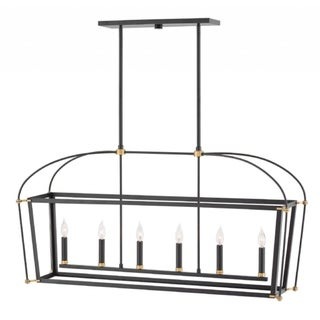 Link to Hinkley Selby 6-Light Chandelier in Black Similar Items in Outdoor Ceiling Lights